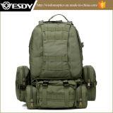Sacchetto grande di campeggio rampicante dello zaino del sacchetto dei militari di colore verde