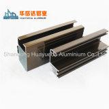 Perfil de alumínio extrudados de electroforese decorativos para portas e janelas de vidro