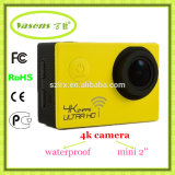 Ultra 4k WiFi 2.0 grau impermeável DV da câmera 170 da polegada