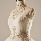 Halter che borda il vestito da cerimonia nuziale nuziale della sfera di Tulle