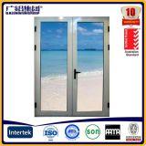 Porta a battenti di vetro di alluminio su polvere ricoperta/anodizzata
