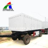 O transporte de produtos agrícolas a barra de tração do reboque do trator