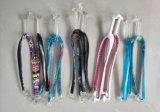 Correas transparentes de PVC para Zapatilla Zapatilla de diseño de moda de las partes superiores de las mujeres