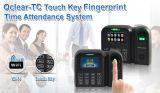 Lector de tarjetas de identificación y de la huella digital biométrico del tiempo de asistencia con TCP / IP (Qclear-TC / ID)