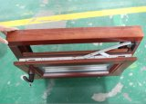 Inclinaison et tour de bois de la fenêtre de revêtement en aluminium pour le mauvais temps