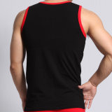 Da aptidão listrada grande Sleeveless do algodão do Mens fábrica quente das camisas da veste T