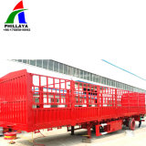 Carreta / Caixa de transporte a granel com compartimento para Reboque