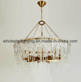 Lustre moderno com folhas de vidro Sombra (WHG-8225)