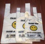 중국 롤에 공장에 의하여 HDPE t-셔츠 부대 /Vest 인쇄되는 플라스틱 부대