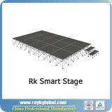 De alta calidad utilizados escenario portátil para la venta, venta profesional escenario modular