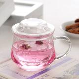 10oz питьевой стекла переключателем боросиликатного стекла с Infuser чашки чая