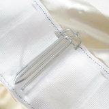 Les crochets de rideau de douche en métal 100 pcs / Lot Rideau chiffon crochet accessoires Crochets pour tirer le ruban plissé hameçons simples