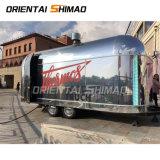 La vente de rue Concession Cheepest Hot Dog Food remorque caravane Airstream