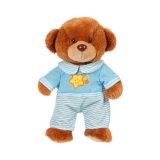 2019 Ventes chaud bébé farcies en peluche brun ours en peluche jouet en peluche avec Star Onesie