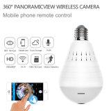 960p 360 градусов видео WiFi Белый свет светодиодные лампы камеры