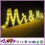 LED de renom plus personnalisée signe voyants 3D pour mariage et de la partie