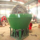 Molino de pulido de la cacerola mojada del uso de la planta del mineral del oro de la pequeña escala