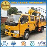 De Dubbele Cabine van Dongfeng 2 van de Rechte Ton Kraan van het Wapen Vrachtwagen Opgezette voor Verkoop