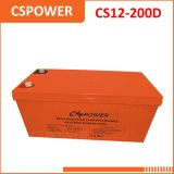Larga vida 12V 200Ah alimentación de almacenamiento de energía solar de batería solar CS12-200D