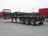 Tri-Axle 40FT плоской кровати контейнера трейлер Semi