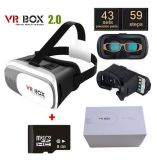 "Vr Box 2.0 Version Vr Glasses Google Cardboard per 3.5 "" - 6.0 "" Smart Phone+ 8GB 3D Games e Movies con Package"