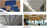 曲げられたバッフルのガラス繊維の天井音響の迷中断された天井のボード