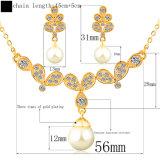 Insieme alla moda dei monili della perla dell'oro di Womenrose