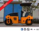 Machines vibratoires Yzc3.5h de construction de routes de double tambour de 3.5 tonnes