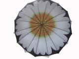 عباد الشمس تصميم نقل الحرارة الطبقات الطباعة مزدوجة مستقيم مظلة (SU025-3)