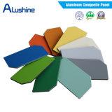 Certificado ISO de Revestimiento de chapa de madera, Panel Alumunium, la pared interior del Panel Compuesto de Aluminio decorativo
