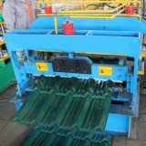 El acero de acero de la azotea del color antiguo esmaltó el rodillo del azulejo que formaba la máquina