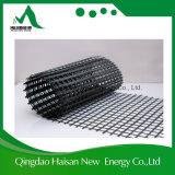 アスファルトISO9001の上塗を施してある補強50-50kn/Mのガラス繊維Geogrid