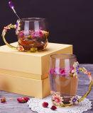 De hoogste het Drinken van het Email van de Rang Mooie Mok van het Glas voor Giften