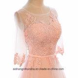 Женщинам-Line кружевной вечер Prom платье с Половины втулки