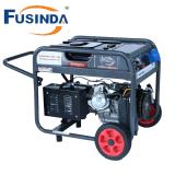 générateur/générateur de l'essence 6kw/groupes électrogènes refroidis par air avec le nécessaire de traitement et de roue