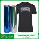 t-셔츠를 위한 밝은 금속 열전달 비닐