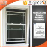 Le bas en bois en aluminium a arrêté le guichet par l'usine de Windows et de portes, guichet en aluminium humanisé d'inclinaison de modèle