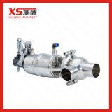 Válvula pneumática da diversão do fluxo da transformação de produtos alimentares do aço inoxidável SS304