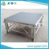 Portable portable de la etapa de la etapa de madera en la etapa portable de aluminio de la venta