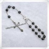 Handmade perles de la Croix de résine voiture Rosaire de cimetière (IO-CB010)