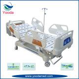 Base larga del paciente médico del hospital del carril lateral con el regulador del carril