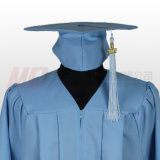 MattGraduation Cap mit Tassel in Sky Blue