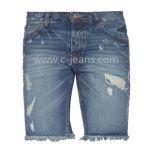 Los hombres de moda Jeans cortos con precio al por mayor