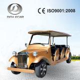 Vehículo eléctrico retro del coche del golf del diseño