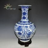 Antique jarros decorativos de flores de cerâmica chinesa
