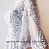 [أ-نك] غطاء كم رماديّ قصيرة تول شريط [بروم] ثوب