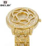 Montre de quartz de diamants de Belb de mode de fleur pour Madame,