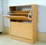 Diseño moderno y armario de zapatos de madera
