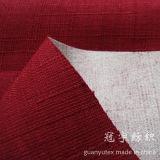 Imitation Slub Tissu en lin Fils de polyester avec support brossé