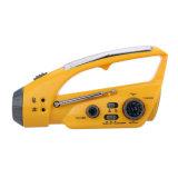 FM/AM 라디오를 가진 휴대용 수동 크랜크 플래쉬 등 LED 점화 비상사태 태양 에너지 LED 토치 다기능 야영 플래쉬 등